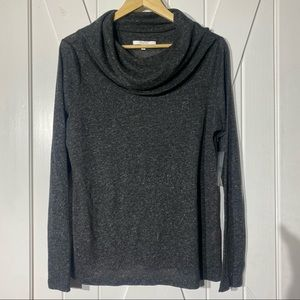 Alfred Sung Sheer Cowlneck Tee